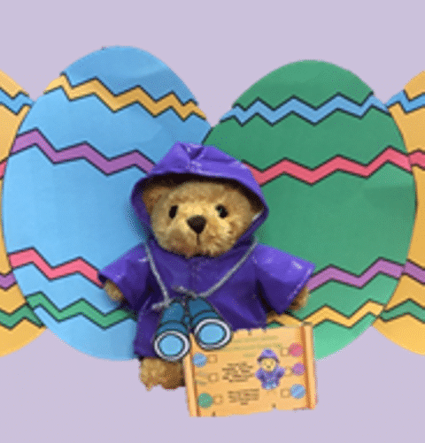 Brigadier Bear with Easter Eggs