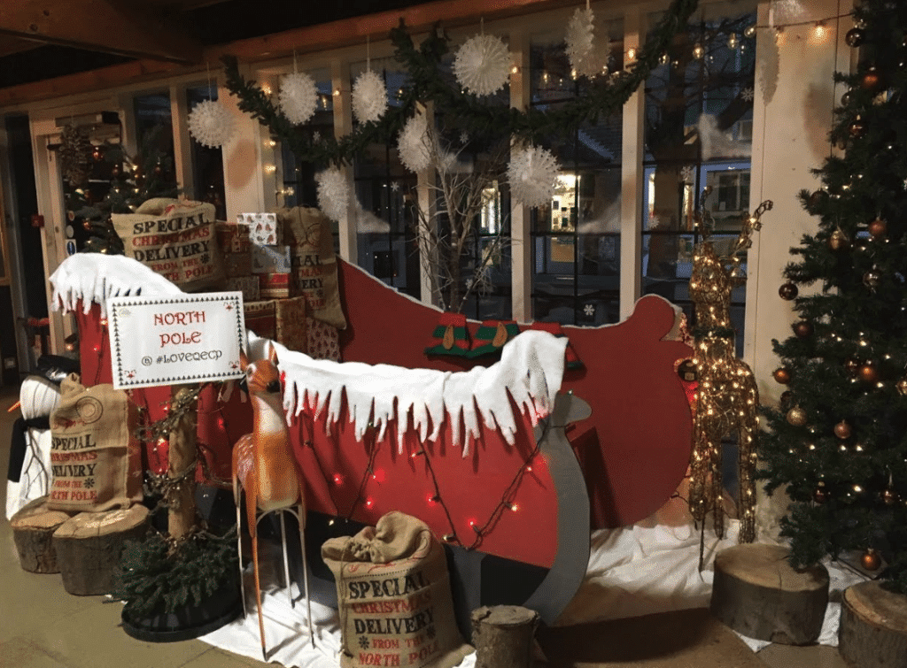 Father Christmas's grotto at Royal Victoria Country Park