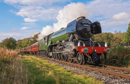 The Watercress Line welcomes the record-breaking Flying Scotsman (Photo credit Liam Barnes)