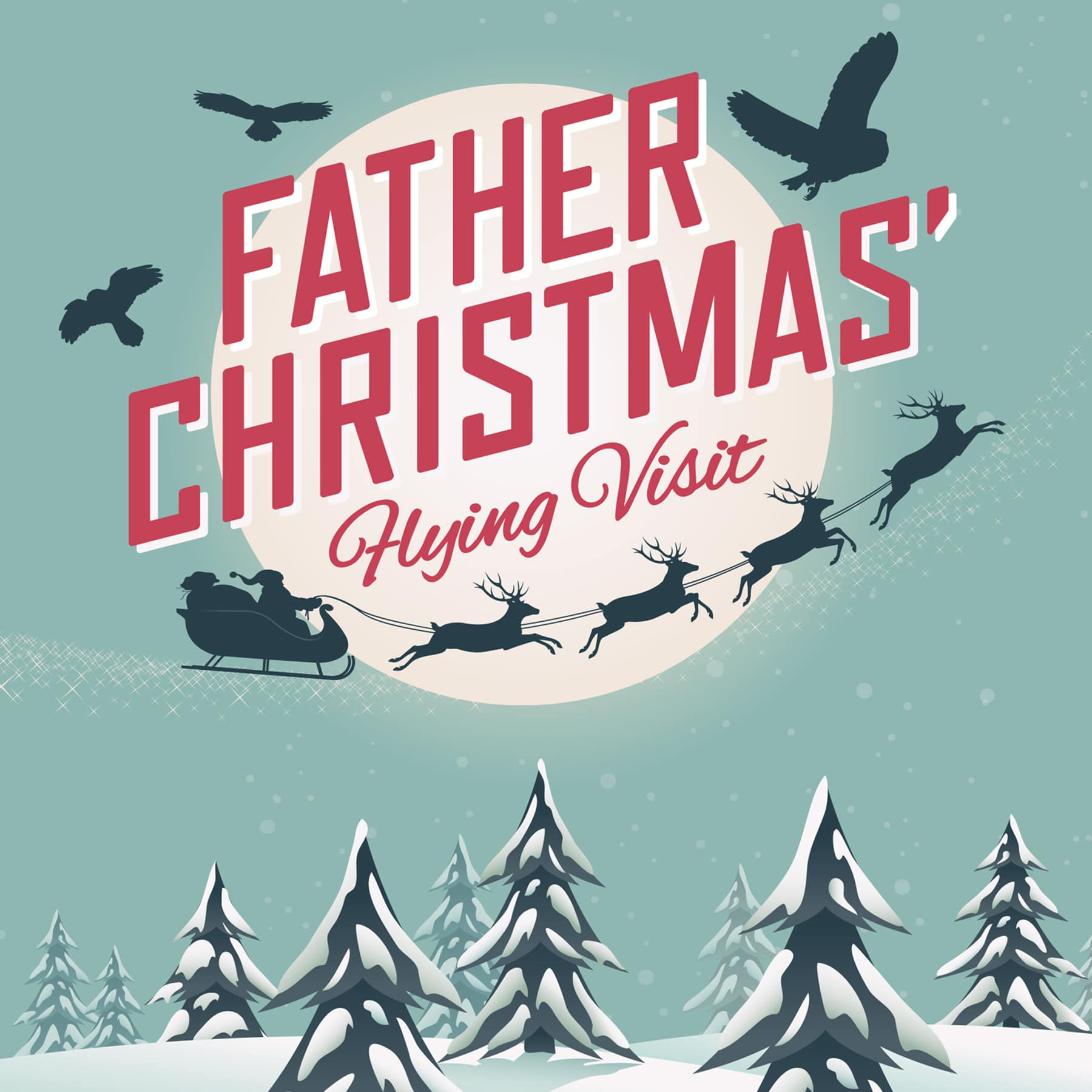 Father Christmas flying