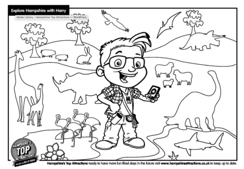 Harry Hampshire colouring animals page 2020