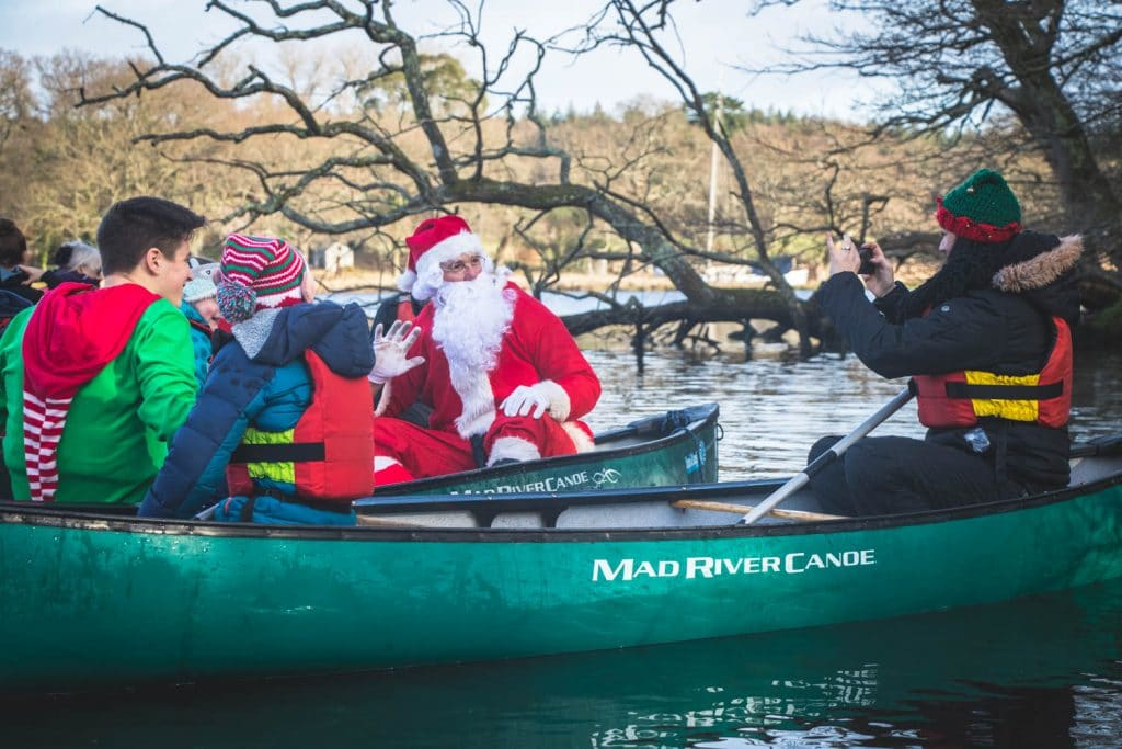 Christmas canoeing with New Forest Activities