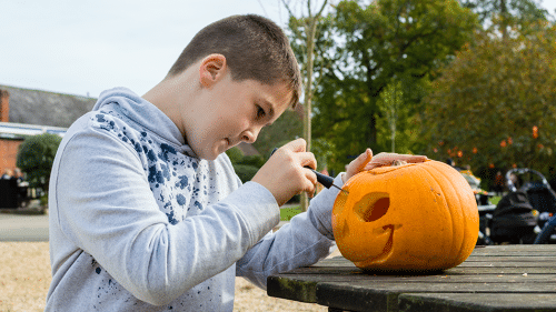 Pumpkin carving | Halloween | Exbury Gardens | New Forest | Hampshire